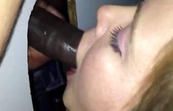 Gloryhole Wife Sucking Black Cock