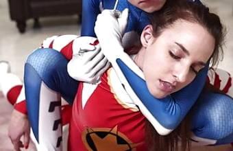 Hardcore Power rangers girls Fight – Amirah Adara defeated