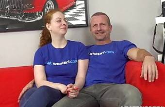 Horny ginger gets fucked by a pro