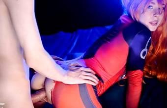 Hot slut Asuka Langley. Sloppy Blowjob and Pussy Creampie –