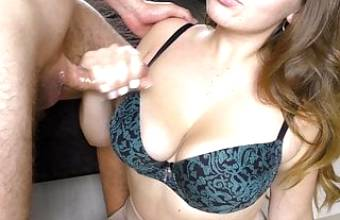 Hot Teen Stepsister asked him to Cum on her Big Tits