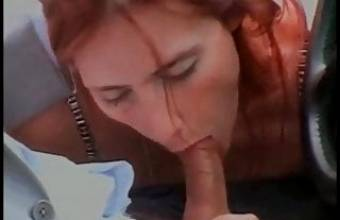 Hot young girl Celine fucked by a big hard cock