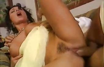 Hot young girl Erika fucked by big hard cocks