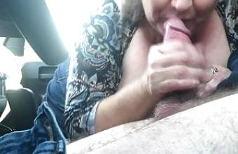 Long haired brunette german babe gets big tits jizzed