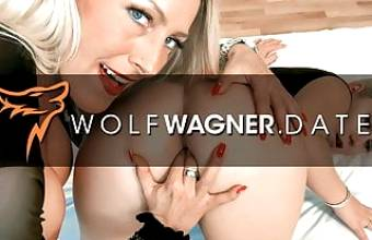 Lesbian vagina diner with Lena and Lana! Wolfwagner.love