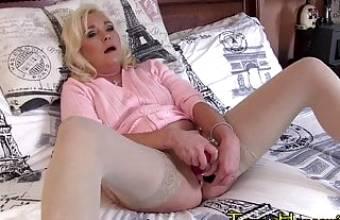 MILF Masturbation Till She Needs A HARD COCK
