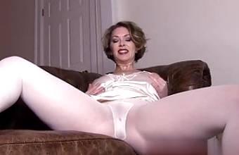 Mistress White Pantyhose Tights Foot Fetish Leggings 2