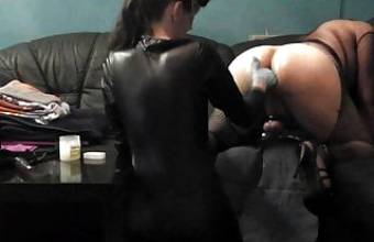 My Sexy Mistress Pegging His CD Sissy Slave Ass With Strapon