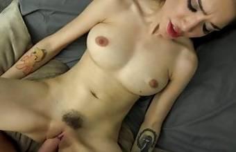 Petite latina begs for dick