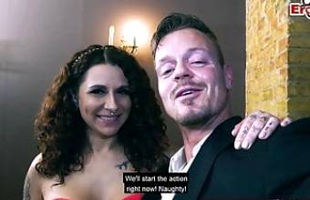 REAL ONLINE SEXDATE – German couple on romantic date – big tits