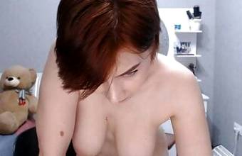 Russian milf caresses her pussy on camera