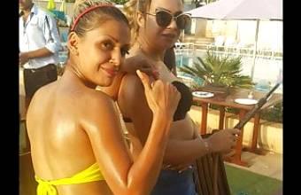 Saudi lesbian girl with her Lebanese girlfriend