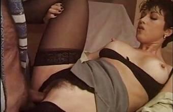 SHEILA STONE in black stockings from Apriti…mummia.