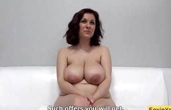 Shy milf with big tits