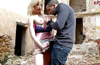 Spanish big tits Latina teen slut fucked outdoors