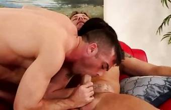 Swingers are having sex on the couch