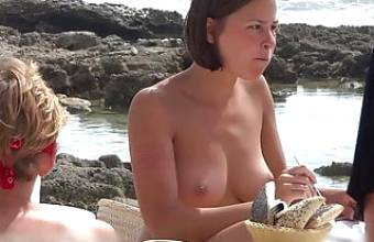 Topless girl and her beautiful breasts